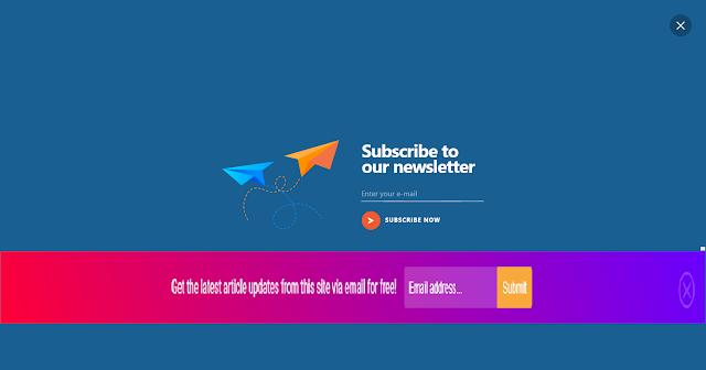 নিয়েনিন অসাধারন Floating  Email Subscribe Box.