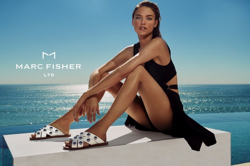 Martha Hunt stars in Marc Fisher's spring-summer 2018 campaign