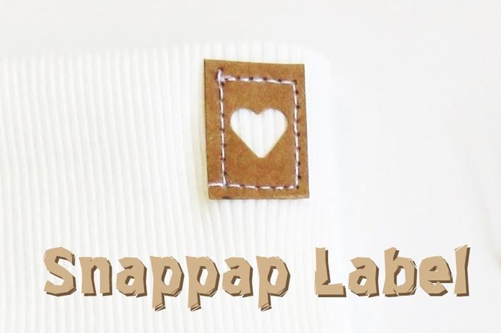 Etikett aus Snappap mit ausgestanztem Herz - Label DIY vonKarin