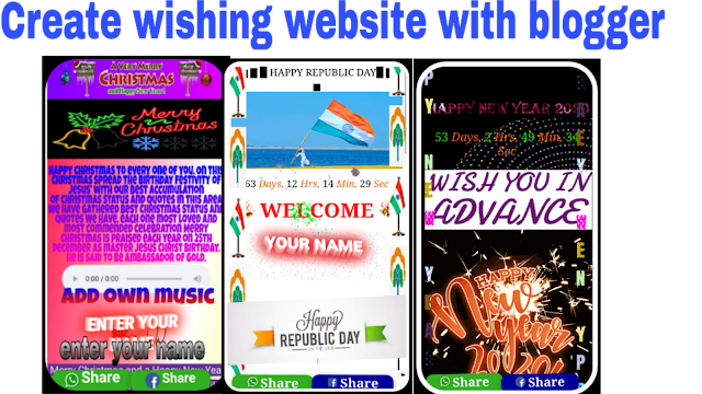Creat a Festival viral Wishing Website Script Free