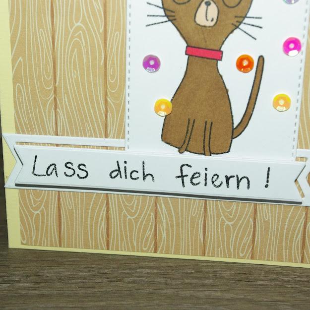 [DIY] Lass dich Feiern!  Grußkarte für Katzenliebhaberinnen