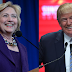 Encuesta revela que estadounidenses están divididos para elegir entre Trump o Clinton