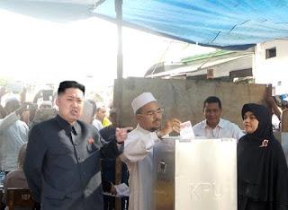 Wow ! Kim Jong-Un Ikutan Nyoblos di TPS, Inilah Foto - Fotonya