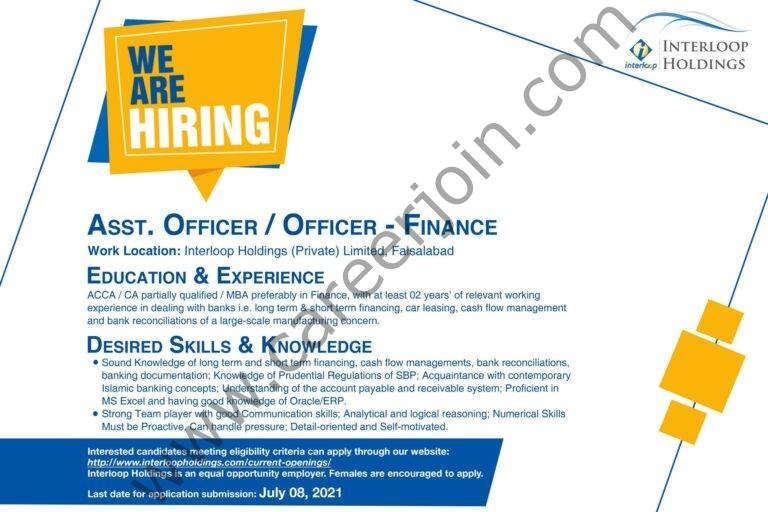 www.interloopholdings.com Jobs 2021 - Interloop Holdings Pvt Ltd Jobs 2021 in Pakistan