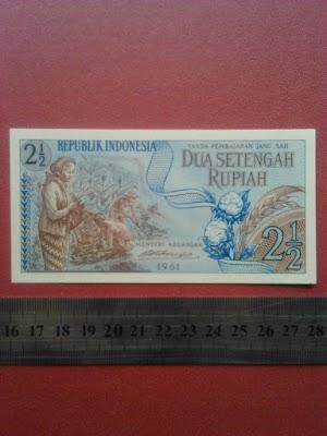 2 1/2 rupiah tahun 1961