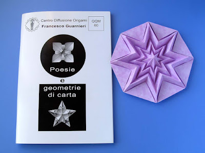 Origami, booklet QQM 60 and Stella infinita – Infinity Star by Francesco Guarnieri