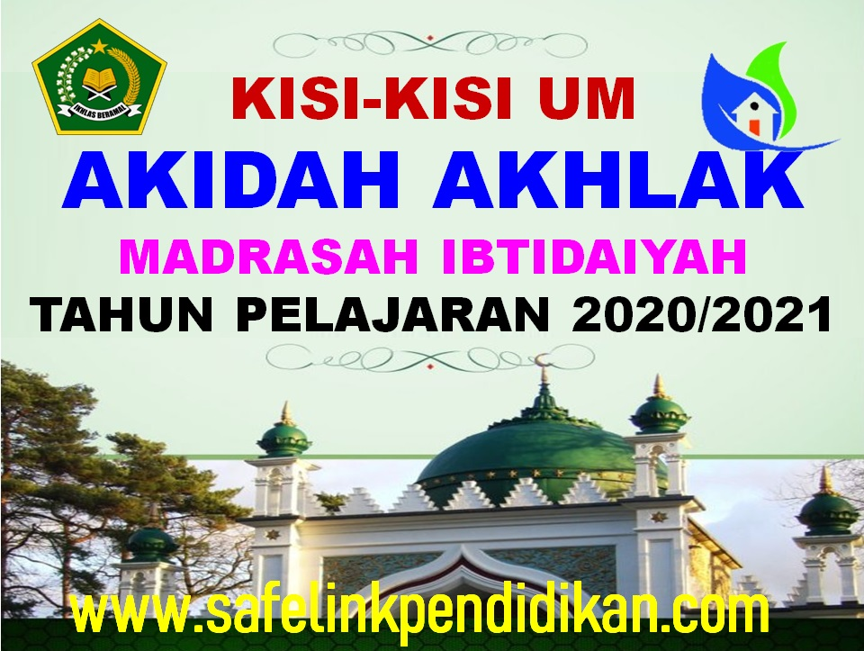 Kisi-kisi UM Akidah Akhlak
