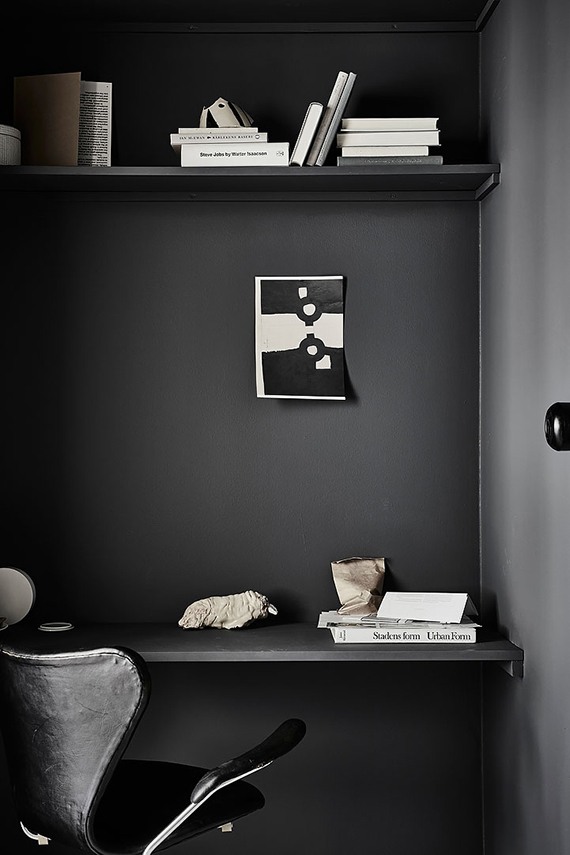 Black Painted Wall 10 black painted walls to inspire you | my paradissi