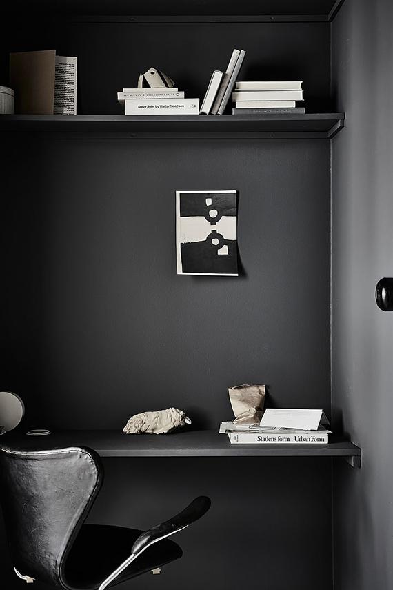 Black office wall   Alvhem