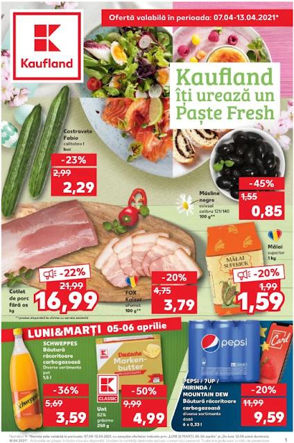Kaufland Promotii + Catalog-Brosura 7-13.04 2021
