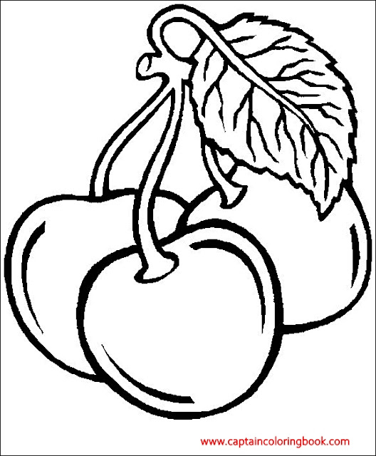 Coloring pages of Fruit chery