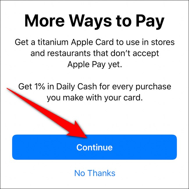 iPhone Wallet Order Titanium Card انقر فوق متابعة