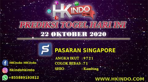PREDIKSI TOGEL SINGAPORE HARI INI 22 OKTOBER 2020