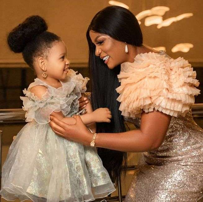 Queen Nwokoye celebrates daughter's birthday
