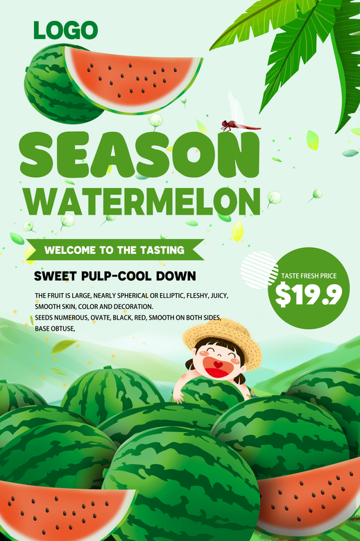 Watermelon psd design and beautiful nature