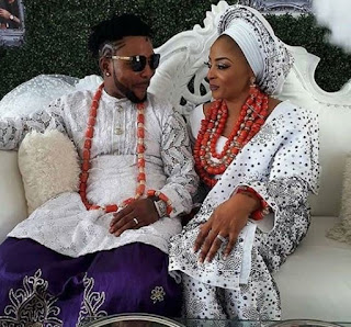 Oritsefemi and wife, Nabila