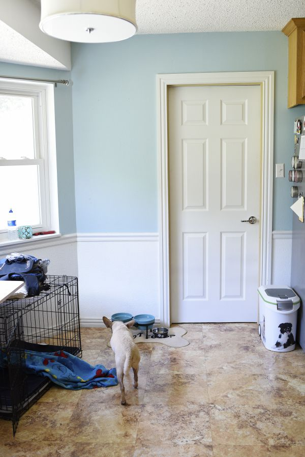 A breakfast nook gets a makeover. This is the before...you have to see the after!