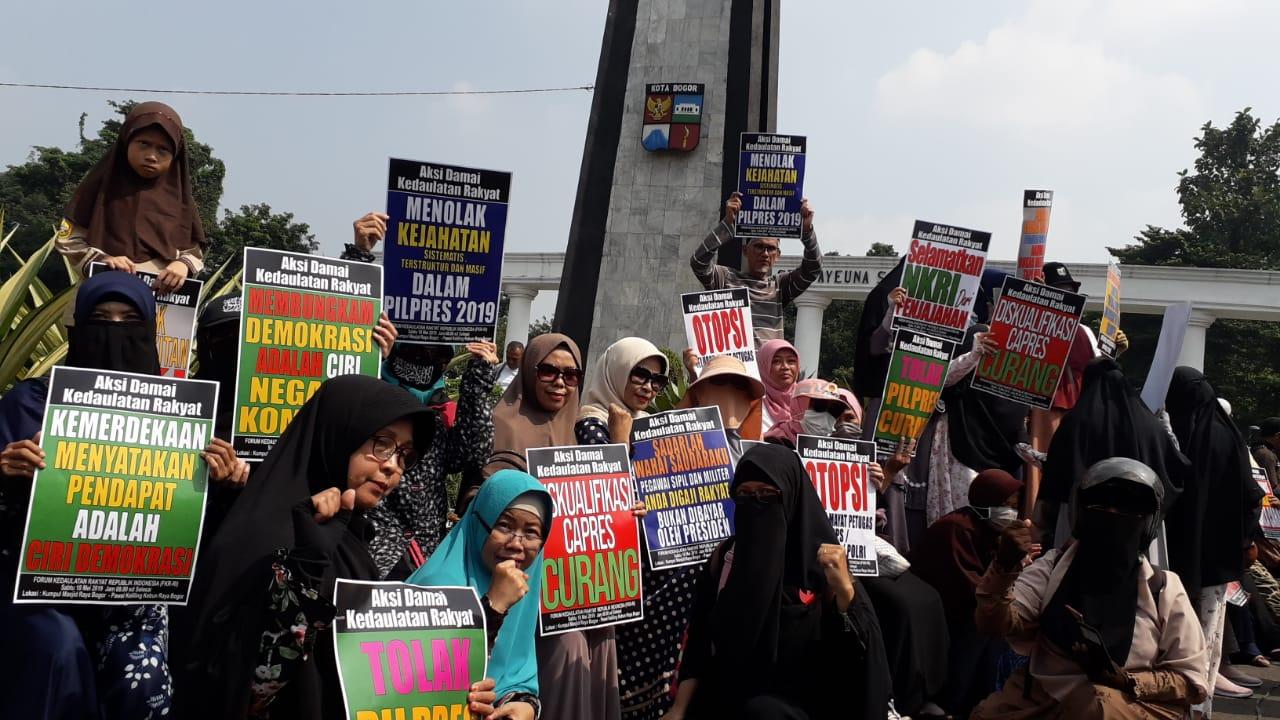 Ribuan Massa Gelar Aksi #KedaulatanRakyat di Bogor