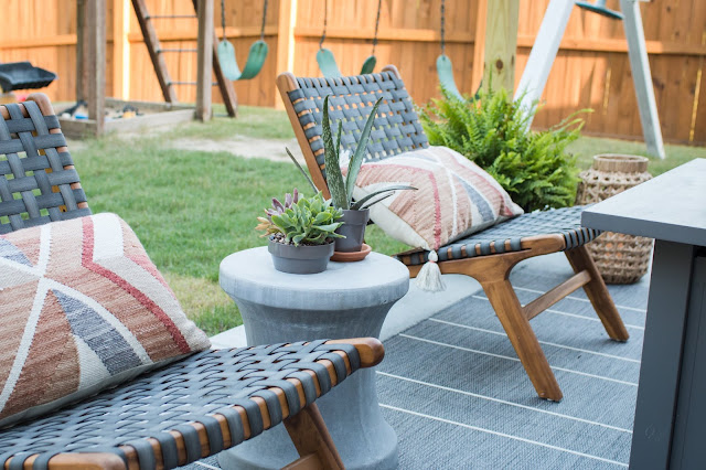 Ideas to Turn a Builder Basic Concrete Slab into a Pretty Patio!