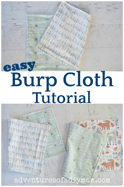 homemade flannel burp cloths
