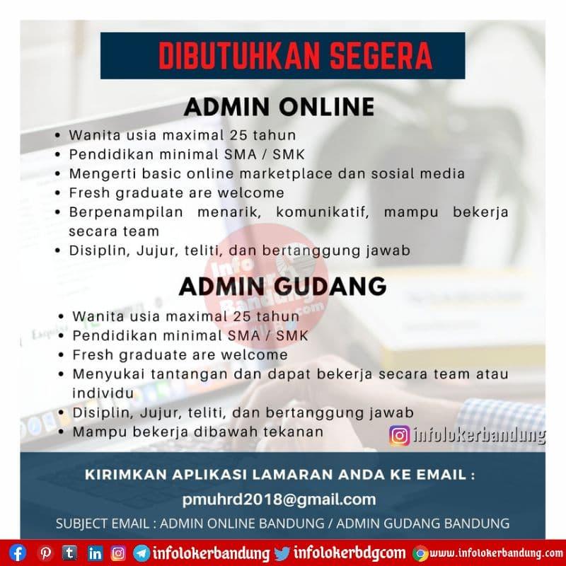 Lowongan Kerja PT. Putra Martha Utama Bandung Juni 2021