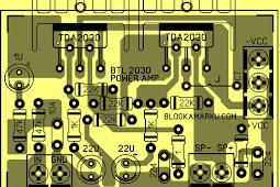 PCB Power BTL TDA 2030 agar Power Lebih  Nendang