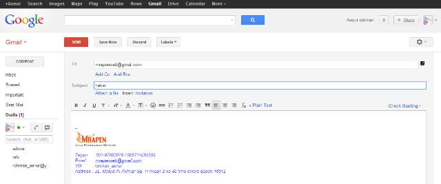 Mrapenweb Blog: Cara membuat signature di gmail mail dan yahoo mail
