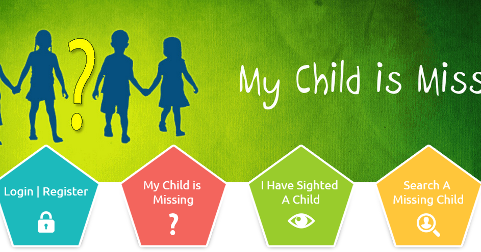 how to find missing child in india