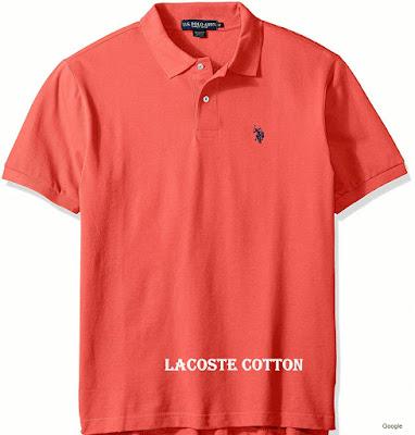 Jenis Bahan Baju Kaos Lacoste Cotton