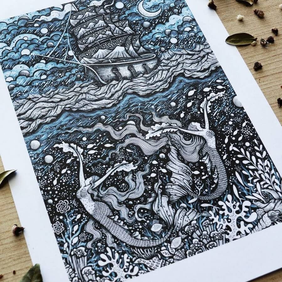 06-Mermaids and the ship-Melpomeni-Chatzipanagiotou-www-designstack-co