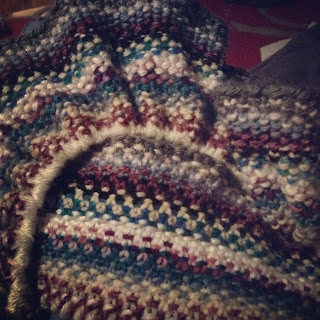 Photo of linen stitch knitting project