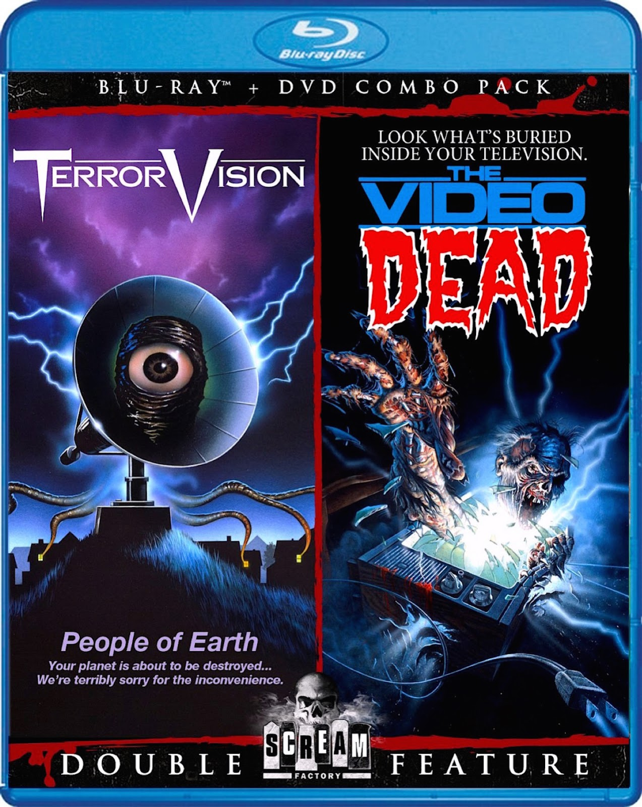 Blu-Ray And Dvd Covers Scream Factory Double Feature Blu -7258