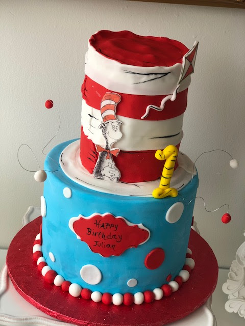 Baking With Roxanas Cakes Cat In The Hat Birthday Cake Themed