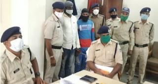 खकनार क्षेत्र में 8 पिस्टल के साथ दो आरोपी पुलिस की गिरफ्त में