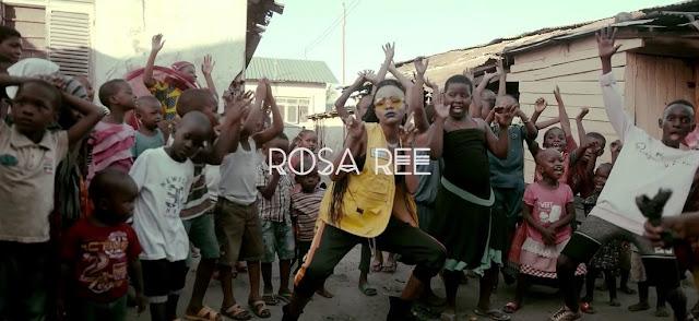 ROSA REE AWAFUATA GHETTO KIDS UGANDA..AWASHIRIKISHA KWENYE NGOMA YAKE