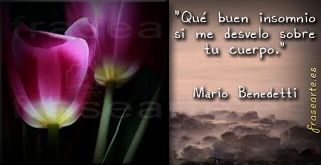Frases de amor -  Mario Benedetti.