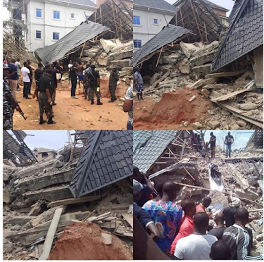 3 Story Building Collapses In Anambra, 11 Trapped (Photos)