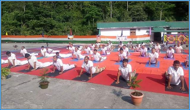 International Yoga Day at NHPC Rambi by CISF