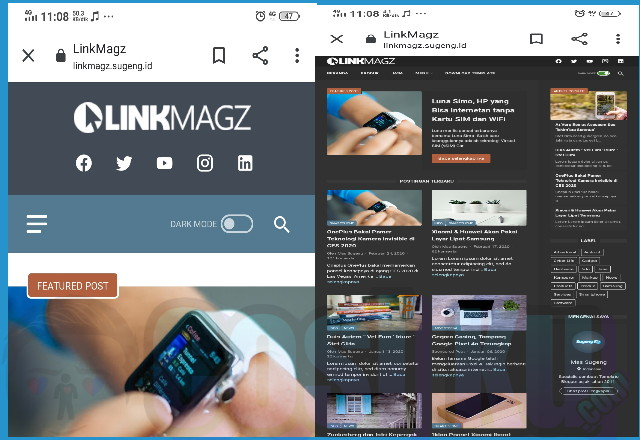 LinkMagz Template Blogger Mirip Wordpress & Paling Keren Menurut Saya?