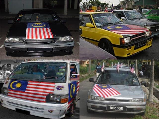 Kuantan Beri Parking Percuma Kepada Mereka Yang Kibarkan Bendera Malaysia Di Kereta