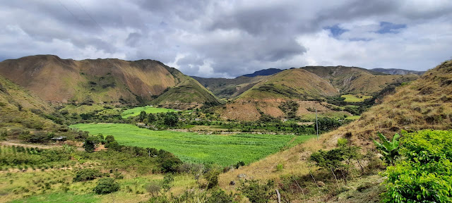 Valley and mountains in Loja province, Ecuador