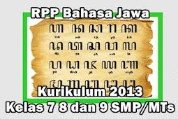 RPP Bahasa Jawa Kurikulum 2013 Kelas 8 dan 9 SMP/MTs Tahun 2021