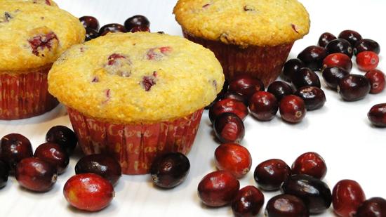 Cornmeal Cranberry Muffins