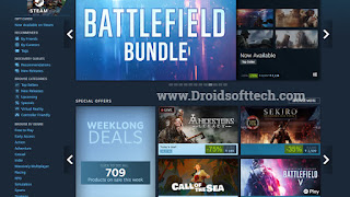 Click on Library to open Battlefield 1