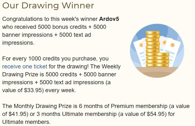 easyhits4u drawing winner