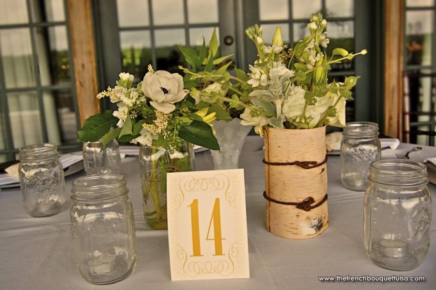 Wedding Ideas Using Mason Jars: Rustic Country Wedding Ideas: Mason Jar Vases