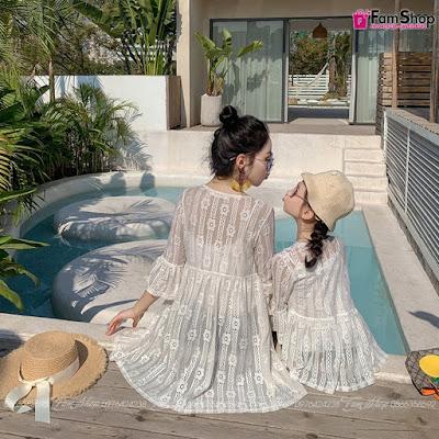Váy maxi mẹ và bé gái M505