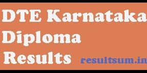 DTE Karnataka Diploma Result 2015