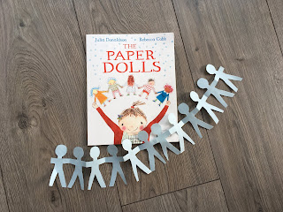 paper dolls book with paper dolls chain