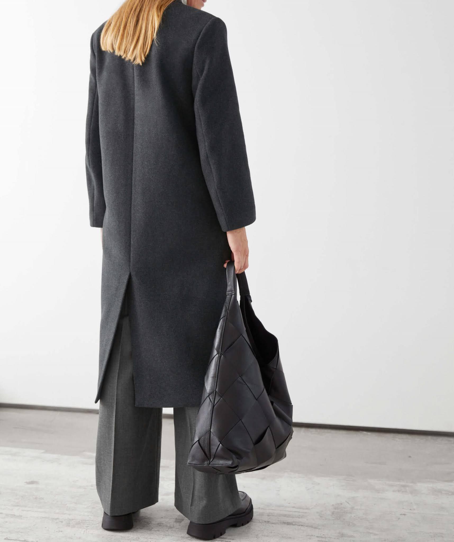 boxy double breasted coat